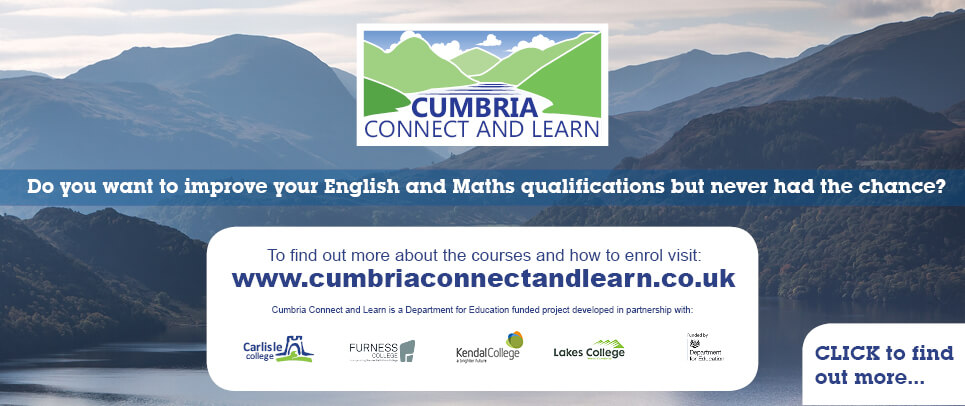 Cumbria Connect and Learn banner